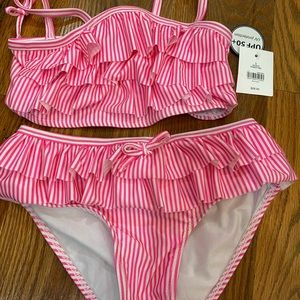 Girls swimsuit size 5 pink
